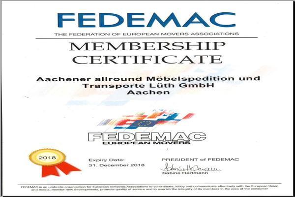 FEDEMAC-Zertifikat